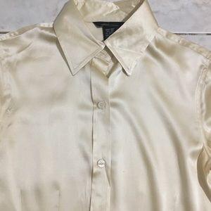 Silk Button Down Bodysuit